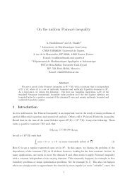 On the uniform Poincaré inequality - HAL