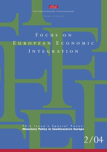 Focus on European Economic Integration 2/04