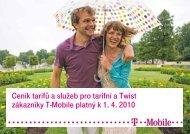 Ceník služeb T-Mobile - 2010 duben