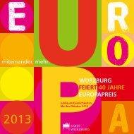feiert 40 Jahre europapreis WurZBurG - Stadt Würzburg
