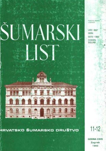 ÅUMARSKI LIST 11-12/1993 - HÅD