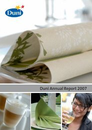 Duni Annual Report 2007 - Duni Group
