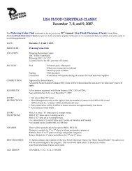 LISA FLOOD CHRISTMAS CLASSIC December 7, 8, and 9, 2007.