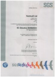Certificate for HardnutZ model number HN101 Ski / Snowboard