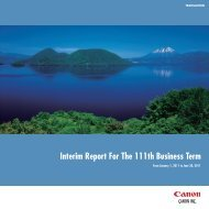 Link to Interim Report For The 111th Business Term - Canon