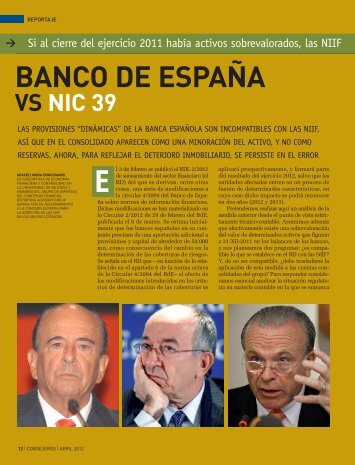 Banco de España vs NIC 39 - Aeca
