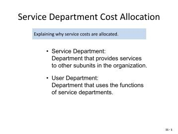cost pricing and allocation This paper addresses how overhead cost allocation system design in multinational enterprises (mnes) is affected by transfer pricing tax regulation using a case.