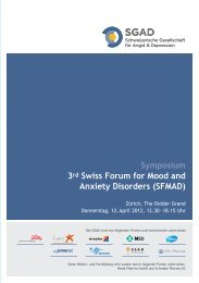 Symposium 3rd Swiss Forum for Mood and Anxiety Disorders (SFMAD ...