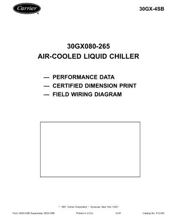 30gx080 265 air cooled liquid chiller aaeura performance data carrier?quality=85 reciprocating liquid chillers and heat machines carrier carrier 30hr wiring diagram at cita.asia
