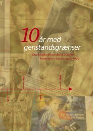10år med genstandsgrænser - Sundhedsstyrelsen