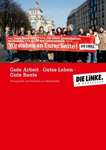 Gute Rente - Fraktion DIE LINKE in Bremen