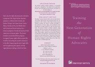 Fellows Brochure - Open Society Foundations
