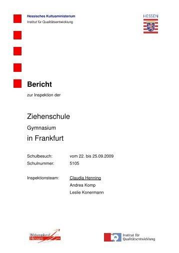 Bericht zur Inspektion der Ziehenschule in Frankfurt