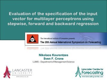 ISF08 presentation - International Institute of Forecasters