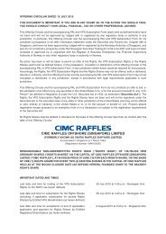 CIMC RAFFLES OFFSHORE (SINGAPORE) LIMITED