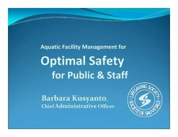 Aquatic Facility Management for Optimal Safety ... - Lifesaving Society