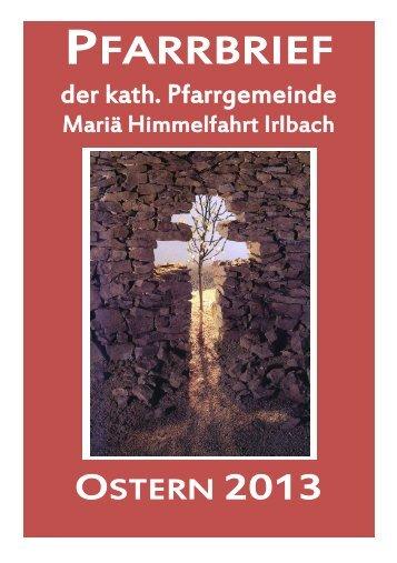 PFARRBRIEF - Pfarrei Irlbach