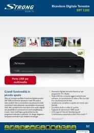Ricevitore Digitale Terrestre SRT 5202 - STRONG Digital TV