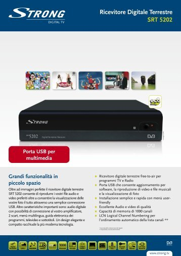 Ricevitore Digitale Terrestre SRT 5202 - STRONG Digital TV