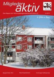 Das neue Magazin ist da! - Wohnungsbaugenossenschaft Gotha eG