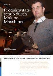Produktivitäts- schub durch Makino- Maschinen - Makino Europe