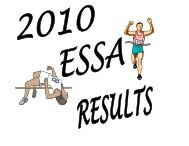 the Elementary Track Results for - Lakehead Public Schools