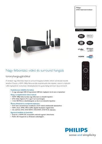 HTS3367/12 Philips DVD házimozirendszer - LCD és plazma TV ...