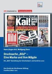 """Drucksache """"Bild"""" – Eine Marke und ihre Mägde - Otto Brenner ..."""