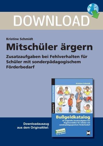 Mitschüler ärgern - Persen Verlag