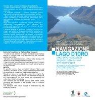Navigazione Lago d'Idro estate 2012 - Valle del Chiese