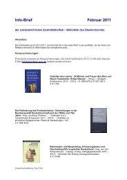 Info-Brief Februar 2011 - Landeskirchliche Zentralbibliothek Stuttgart