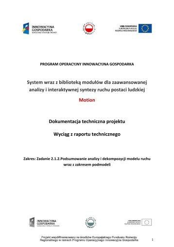 więcej (PDF) - System wraz z biblioteką modułów dla ...