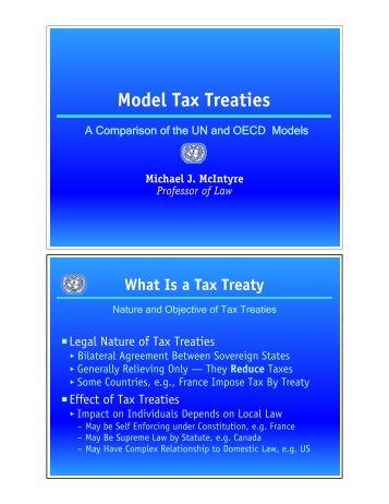 Model Tax Treaties - Wayne State University