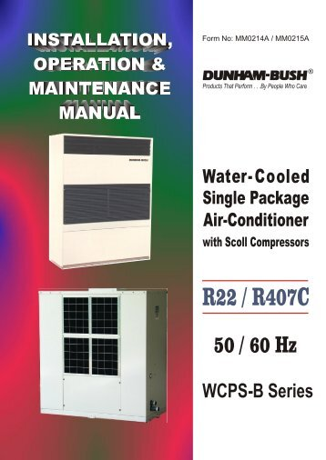 Water cooled direct expansion package units WCPS