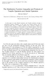 The Distribution Function Inequality and Products of Toeplitz ...
