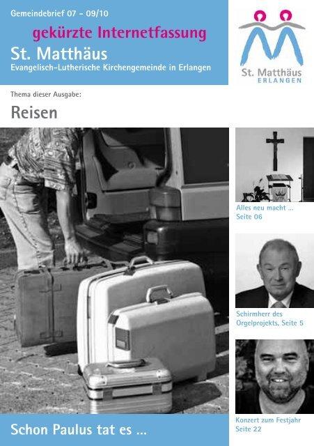 Ausgabe Juli bis September 2010 - Evang.-Luth. Kirchengemeinde ...