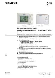 Programuojamas termostatas REV24 (lietuvių k., 628 KB) - Siemens