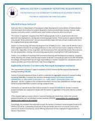 annual section 3 summary reporting requirements - HUD