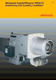 Weishaupt Zweistoffbrenner WKGL70 Ausführung 3LN (LowNOx ...