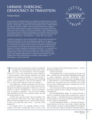ukraine: emerging democracy in transition - Earnscliffe Strategy Group