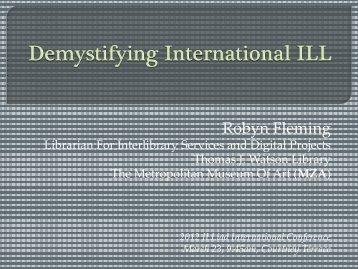 Demystifying International ILL