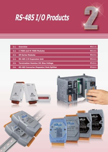 Ch2. RS-485 I/O Products - ICP DAS