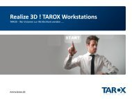 Wo Visionen zur Wirklichkeit werden! - Tarox