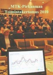 Vuosikertomus 2010 lopullinen.pdf - MTK