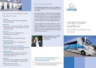 Folder UNIQA Mobile HealthCare