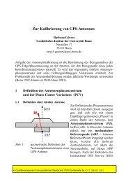 Zur Kalibrierung von GPS-Antennen - Universität Bonn