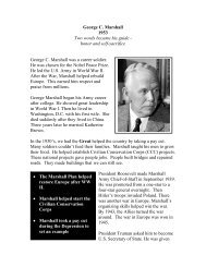 George C. Marshall - The Nobel Peace Laureate Project