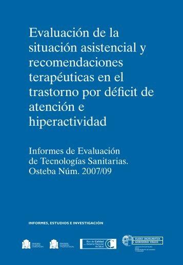 Evaluación de la situación asistencial en el TDAH - ASMI