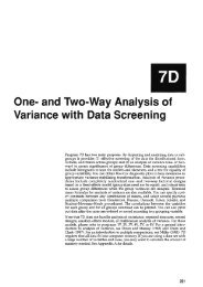Univariate and Multivariate Analysis of Variance and