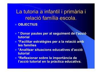 La tutoria a infantil i primària i relació família escola (PDF)